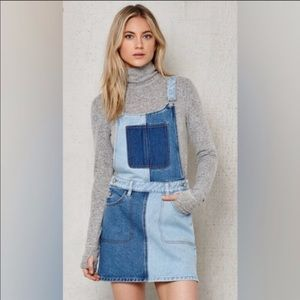 PacSun Overall Patch Dress